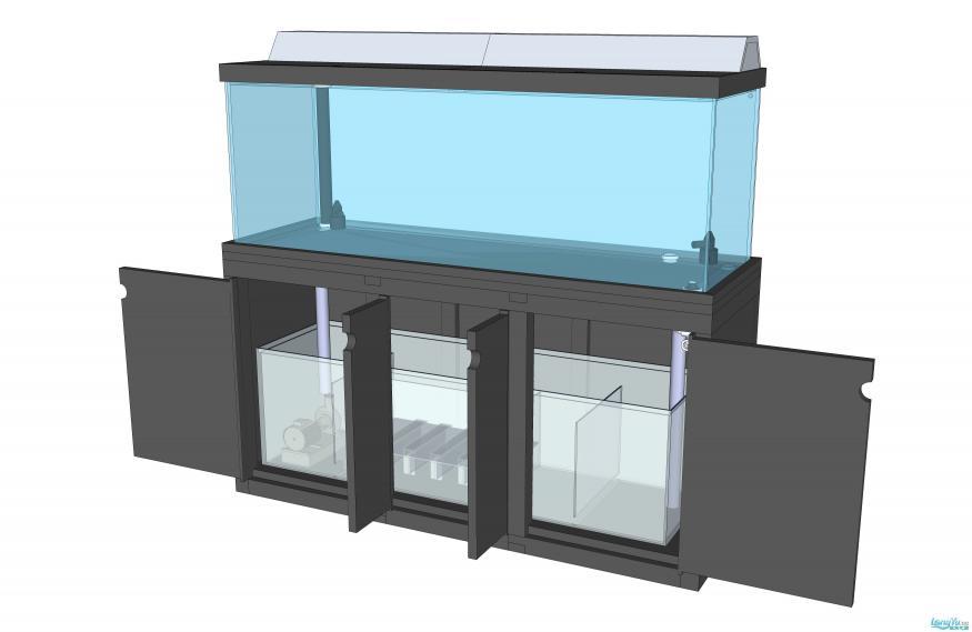 欧式超白玻璃鱼缸设计图纸200X70X100 西安观赏鱼信息 西安博特第2张