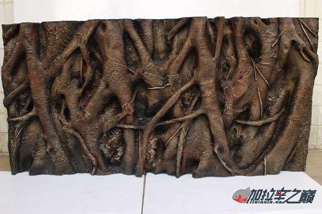 水虎缸超立体仿真Pu背景板原来是这样搞出来的哈哈 西安观赏鱼信息 西安博特第5张