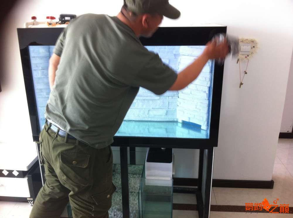 帮朋友DIY 2个小缸 刚完工12米x05米x06米高 西安龙鱼论坛 西安博特第5张